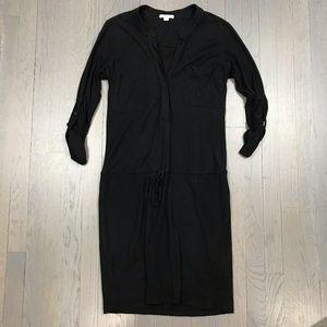 James Perse Standard Henley Long Sleeve Dress